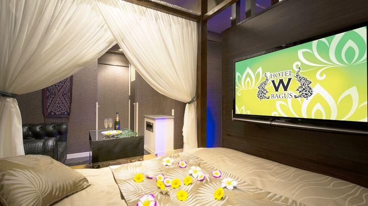 【新宿歌舞伎町の露天風呂があるラブホテル】HOTEL W-BAGUS